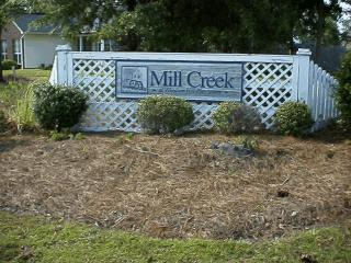 Mill Creek entrance in Windsor Hill Plantation