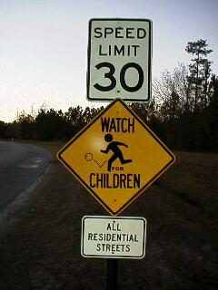 New Speed Limit/Safety signs