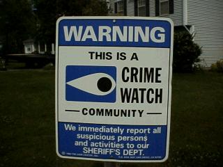 Windsor Hill is a Crime Watch Community!
